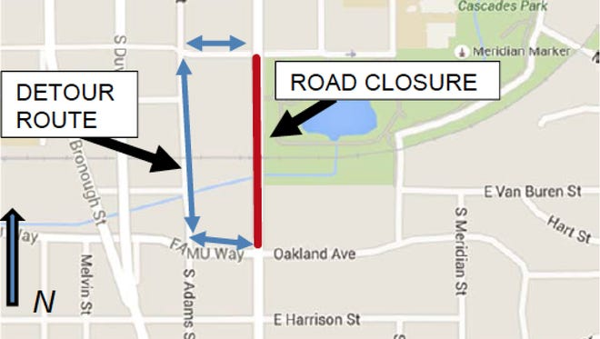 South Monroe Street will be closed Friday, April 22, through Saturday April 23 and again Saturday, April 24 through April 25.