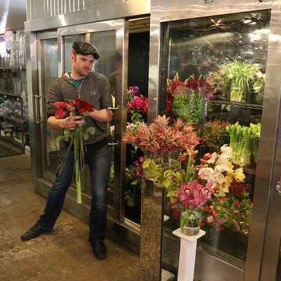 Michael Wells, floral designer at Stacy K Floral on