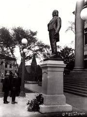 The Daniel S. Dickinson monument, about 1930.