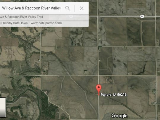 Google Map image showing the intersection of Raccoon