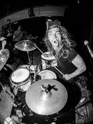 Jarob Bramlett playing the drums