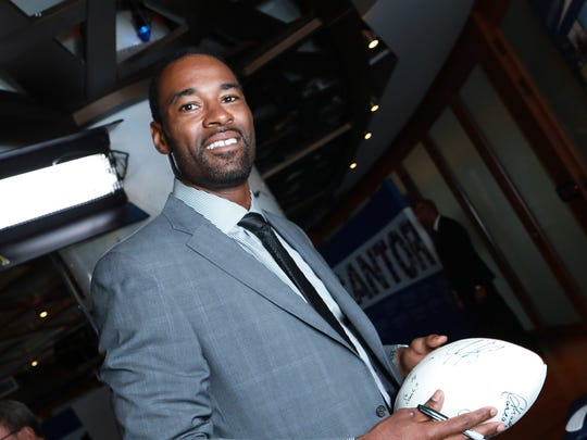 Calvin Johnson attends the Annual Charity Day at Cantor Fitzgerald on Sept. 11, 2018 in New York