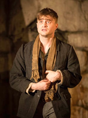 Daniel Radcliffe performs in 'The Cripple of Inishmaan' at the Cort Theatre in New York.