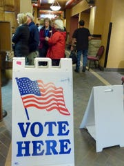 Voters lined up at the Ruidoso Convention Center, one of the six voting centers in Lincoln County.