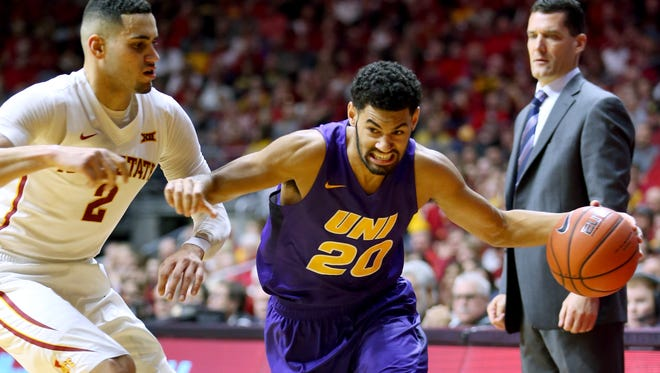 Northern Iowa's Jeremy Morgan (20) will have to be a go-to guy next season.