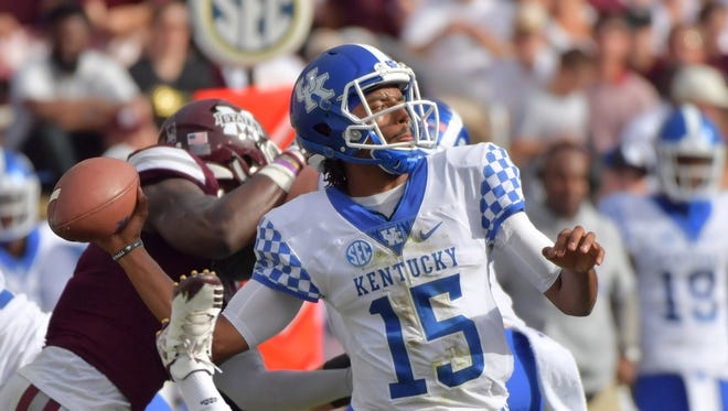 Kentucky quarterback Stephen Johnson has thrown for 1,355 yards with nine touchdowns and four interceptions.