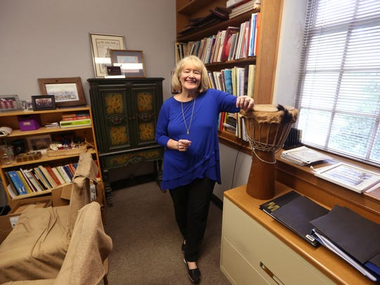 FSU Professor of Choral Music Education Judy Bowers in her office on the university's campus Thursday, July 6, 2017. Bowers has worked at FSU since 1990 and for the last five semesters has organized a choir at the Gadsden Correctional Facility for women.