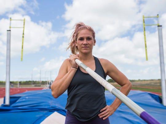 Texas A&M-Corpus Christi's pole vaulter Hannah McWilliams