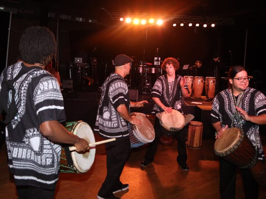 Members of the Global Education Center's drum ensemble entertain guests at Cannery Ballroom in 2016. The Global Education Center will partner with Nashville Public Library for several Black History Month events in February.