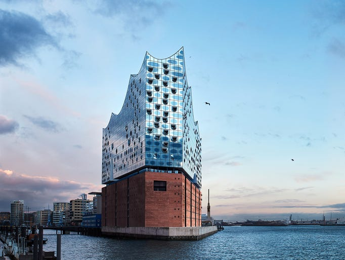 The Elbphilharmonie is a central piece of HafenCity,