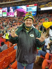 Jeff Roznowski attends the Green Bay Packers game in Washington on Nov. 20.