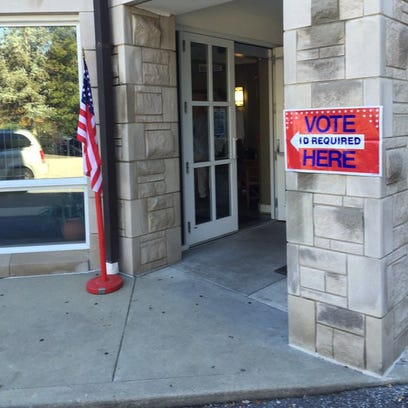 Voting station in Jefferson County, Kentucky.