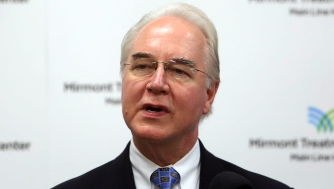 In this Sept. 15, 2017, photo, Health and Human Services Secretary Tom Price speaks at the Mirmont Treatment Center in Media, Pa. The Oversight Committee that Rep. Trey Gowdy, R-S.C., chairs has requested more information about Price and others' flight patterns.