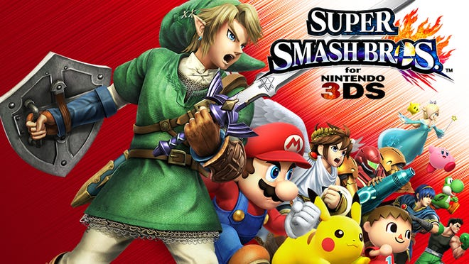 Super Smash Bros. is a fighting game that features characters from other video games doing battle.