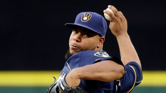 Wily Peralta's velocity is back to where it was two saeasons ago,