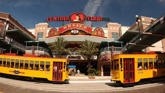 Historic Ybor City was once Tampa's center of cigar industry. Now it's a lively district with restaurants and shops.