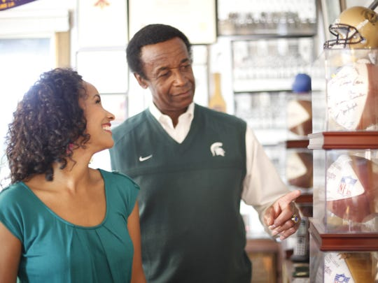 """Filmmaker Maya Washington, daughter of MSU standout Gene Washington, is working on the documentary """"Through the Banks of the Red Cedar"""" about her dad and MSU football in the 1960s. She said the film is a thank-you to another Spartan great, Bubba Smith."""