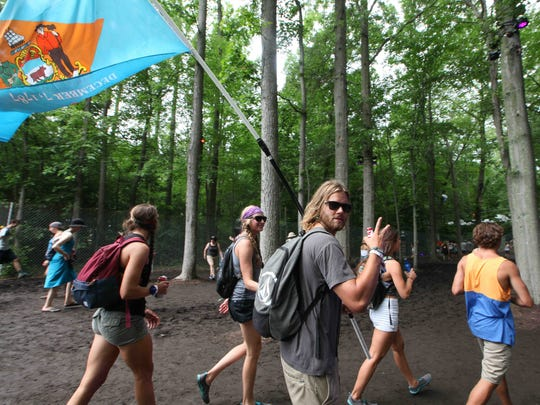 Fans move through the Pathway as Firefly Music Festival continues on day two.