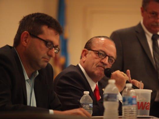New Castle County Executive Thomas P. Gordon (right)