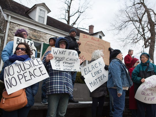 New Paltz residents and SUNY New Paltz students attended a Nov. 20 rally in protest for incidents of racism and abusive incidents nationwide.