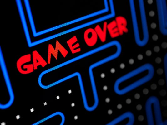 Screen showing that the Game is Over