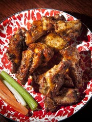 BBQ Rub wings from Jethro's.
