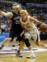 Grace Vander Weide (right), pictured here during a