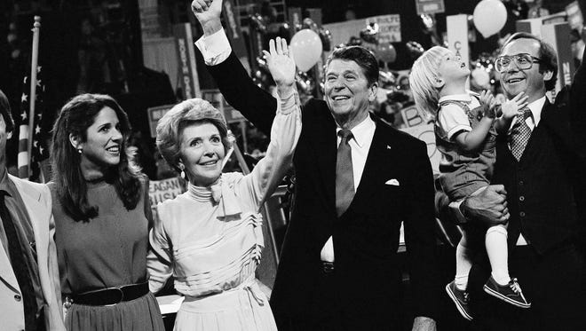 Ronald Reagan, with wife Nancy, accepted the presidential nomination at The Joe, paving the way for a 12-year Republican reign in the White House.