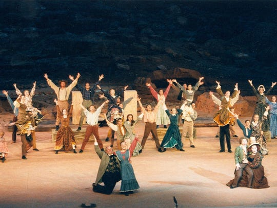 """Tuacahn produced the musical """"Utah!"""" at its amphitheater for four years before adding other shows."""