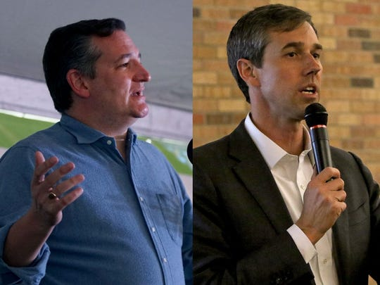 A race for the U.S. Senate between Republican incumbent Ted Cruz and Democrat Beto O'Rourke will be decided Nov. 6.