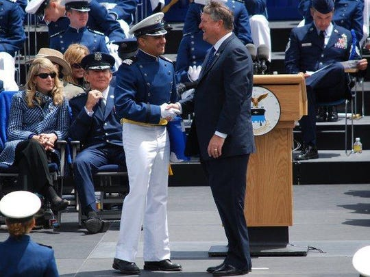 Chris Jimenez receives his Bachelor's degree at the U.S. Air Force Academy graduation in 2011.