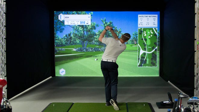 SentryWorld in Stevens Point has both a seven-stall indoor driving range and a virtual golf simulator.