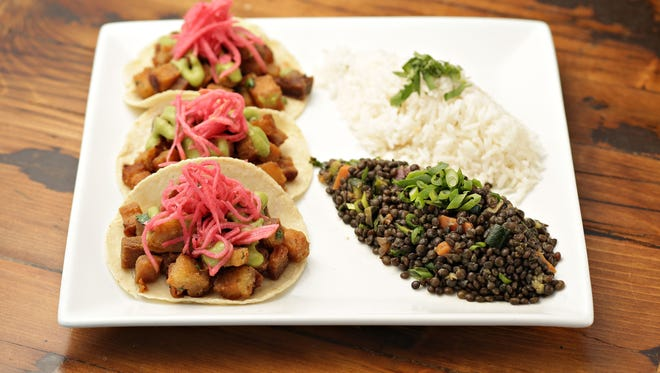 The pork belly tacos from Taco Haus in Scottsdale.