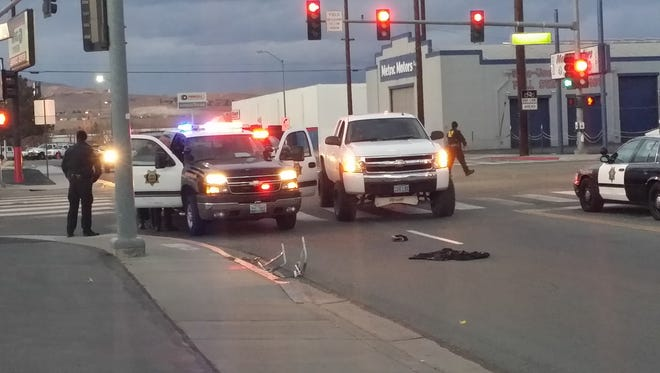 Reno police are investigating the crash at Sutro and Fourth Streets