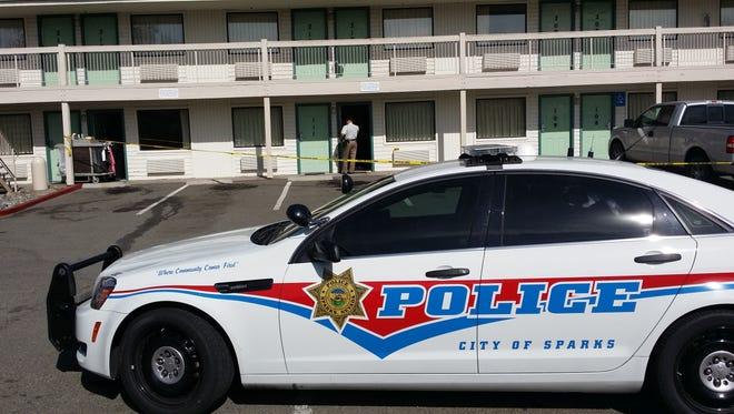Sparks police at crime scene