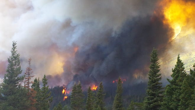 A view of the Reynolds Creek Fire from Sun Point.
