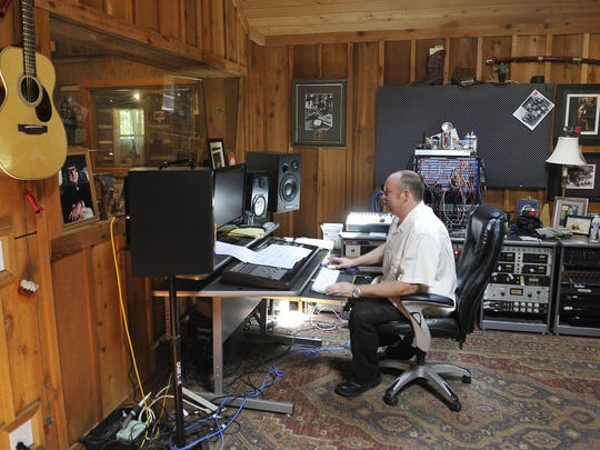 John Carter Cash works at Cash Cabin Studios in Hendersonville, the recording studio where his father recorded later in life.