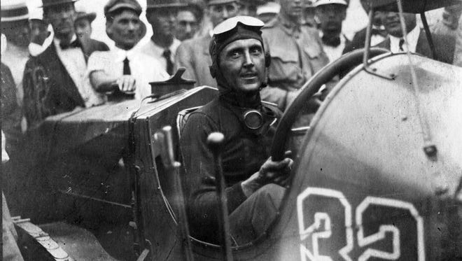 Ray Harroun sits in his Marmon Wasp after winning the first Indianapolis 500 in 1911.  He averaged 74.602 mph in completing the first 500 in 6 hours, 42 minutes and 8 seconds. He won $14,250 from the $30,150 purse. <b>05/27/2011 - F04 - SPECIAL - 1ST - THE INDIANAPOLIS STAR</b><br />Ray Harroun sits in his Marmon Wasp after winning the first Indianapolis 500 in 1911.
