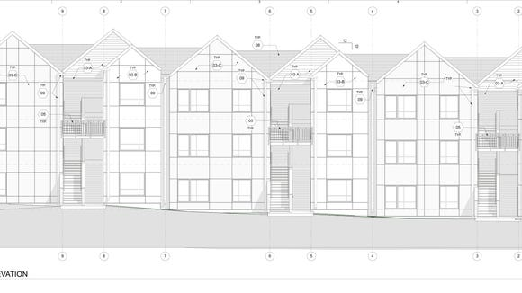 Architectural rendering of the planned new Olympic View Apartments in Port Orchard.