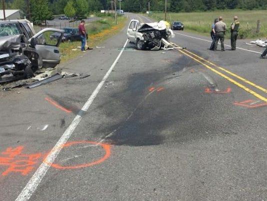 Oregon State Police at crash