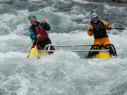 Boaters get a thrill with a ride down the Clackamas River's whitewater.