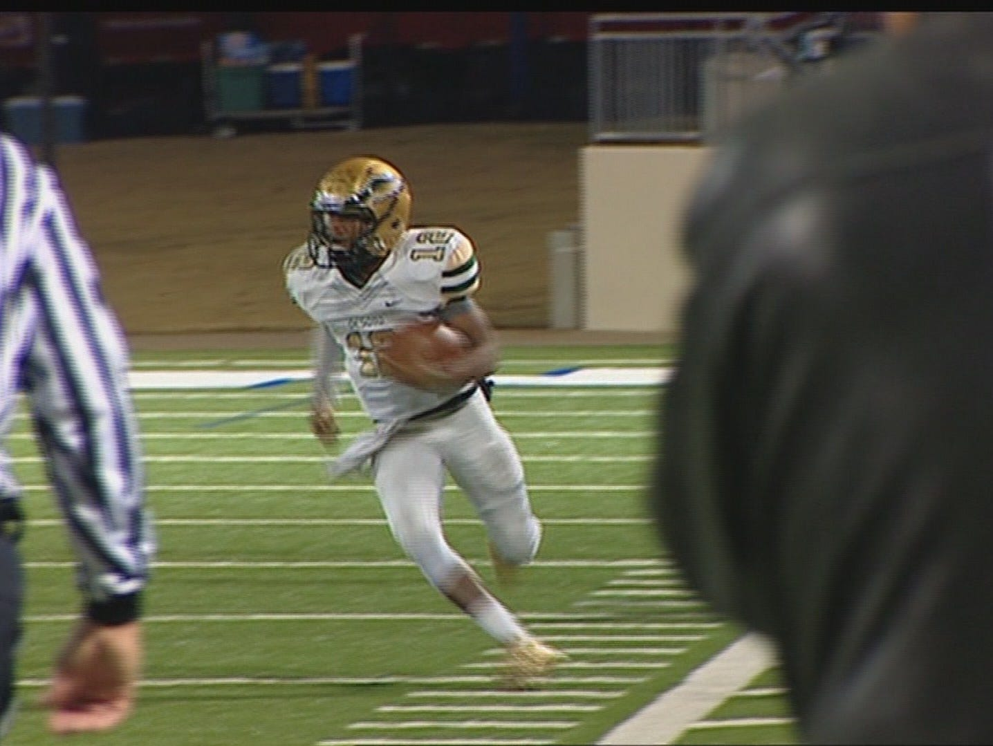 At the high-school level, the football community in DeSoto was wondering how their quarterback, Tristan Wallace, would replace the exciting and successful Des White.