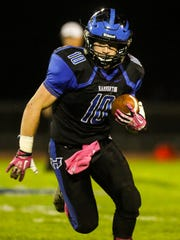 Hammonton runs the ball in Friday night's game over Kingsway.
