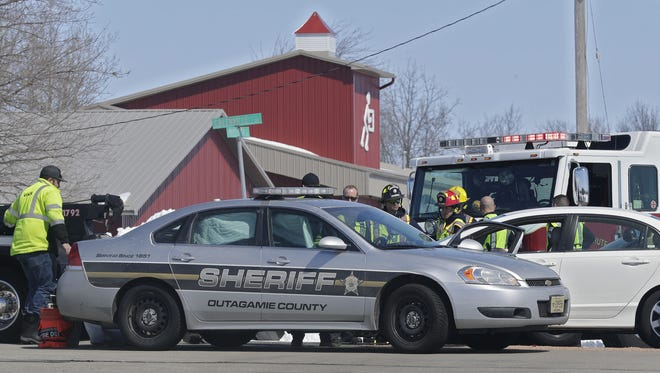A deputy from the Outagamie County Sheriff's Department was involved in a crash at the intersection of West Greenville Drive and North Mayflower Drive in Grand Chute.