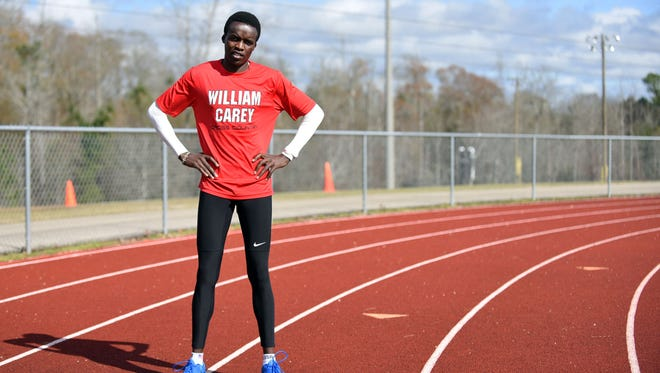 Geoffrey Kipchumba is part of the William Carey cross country and track track team.