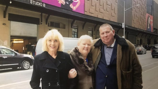 """Gloria Martin, Cindy Hayes and Roy Hayes in New York City to film """"On the Road with Paula Zahn."""""""