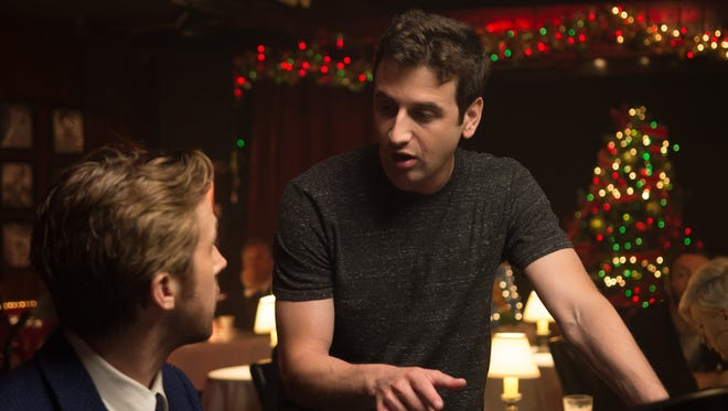 """Composer Justin Hurwitz, pictured here on the set of """"La La Land"""" with actor Ryan Gosling, is nominated for three Academy Awards. Hurwitz graduated from Nicolet High School and took piano lessons at the Wisconsin Conservatory of Music."""