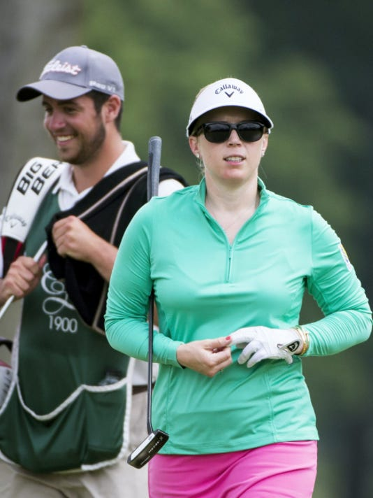 Morgan Pressel, the youngest woman to win a major championship, played a practice round at Lancaster Country Club in May, in preparation for the U.S. Women's Open at the course in less than three weeks.