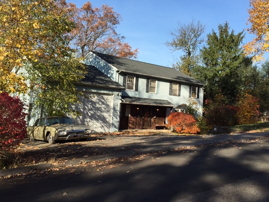 The home of Linda Misek-Falkoff on Grandview Avenue, Pleasantville, on Nov. 10, 2014. She was found stabbed to death inside Oct. 30, 2014. Police have opened the road and cleared all of her belongings from the front yard. (Hoa Nguyen/The Journal News)
