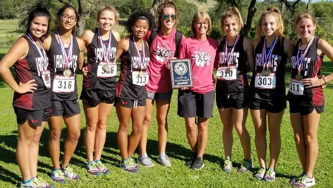 The Ballinger girls cross country team won the District 4-3A title Tuesday, Oct. 11, at the Sonora Golf Course.